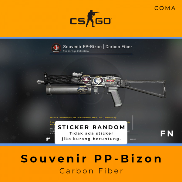 Souvenir PP-Bizon | Carbon Fiber (Factory New)