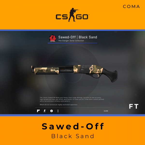 Sawed-Off | Black Sand (Field-Tested)