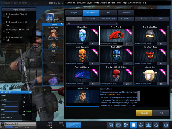Diamond3 Char BOPE Weapon WarnaWarni || DATA POLOS