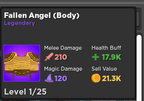 Fallen Angel | Body Armor | Rumble Quest