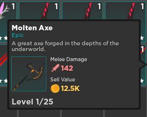 Molten Axe | Warrior Weapon | Rumble Quest