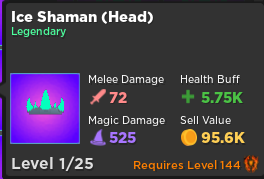 Ice Shaman (Head) | Rumble Quest