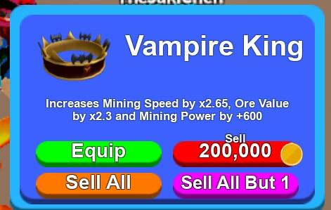 Vampire King , Limited (Mining Simulator)