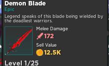 Demon Blade    Rumble Quest