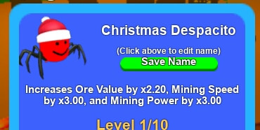 Pet Christmas Despacito (Mining Simulator)