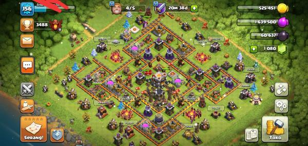 Clash of Clans TH 11 Walll silau Hero Tua Hg Murah