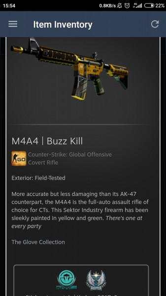 M4A4 | Buzz Kill FT