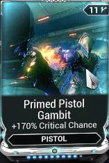 Primed Pistol Gambit (R9/R10)