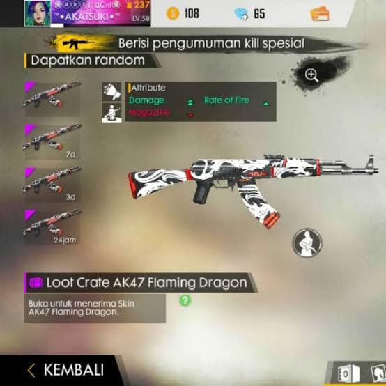 Crate AK Flaming Dragon