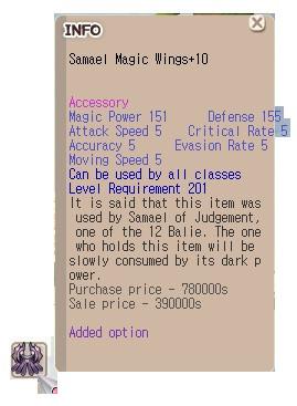 Samael Magic Wings (SMW) +10