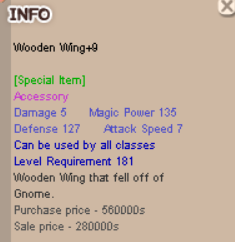 Wooden Wing+9 WW+9