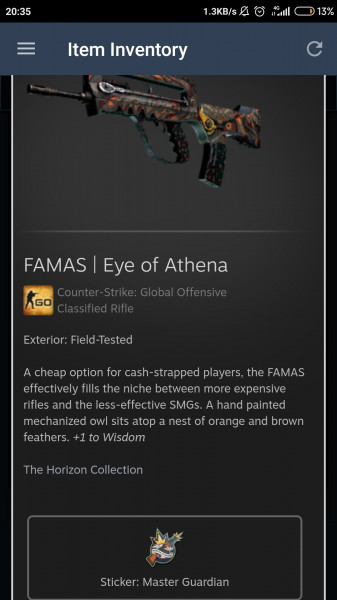 FAMAS | Eye of Athena (FT)