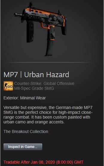 MP7 | Urban Hazard (Minimal Wear)