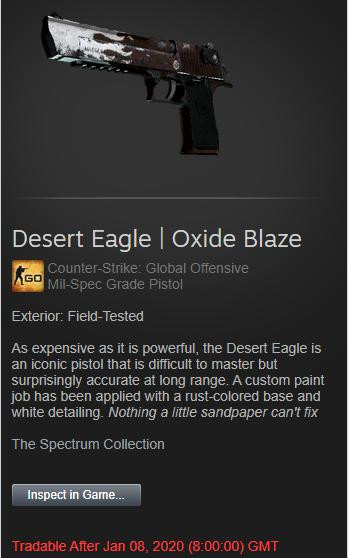 Desert Eagle | Oxide Blaze (Field-Tested)