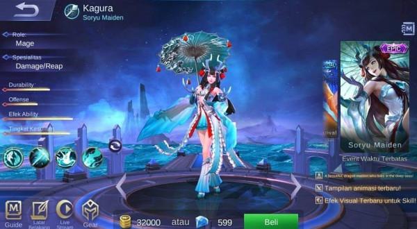 Akun Epic Kagura Mobile Legends
