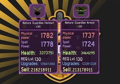 Nature Guardian Armor +30