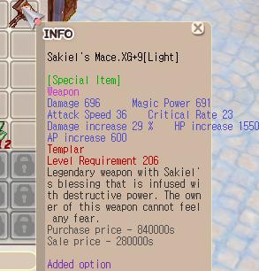 Sakiel Templar XG+9 [Light}
