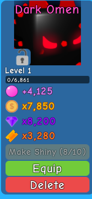 Dark Omen ( Bubble Gum Simulator )