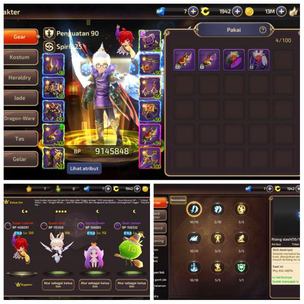 1 Akun 2 Job Warrior,Assassin|Server S93 Mantap