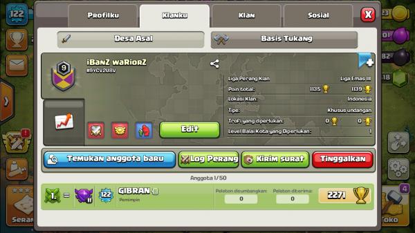 Clan Level 9 IBaNz Wariorz