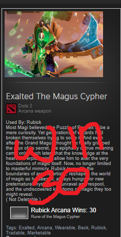 Exalted Magus Cypher (Arcana Rubick)