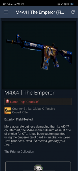 M4A4 | The Emperor [covert] (field-tested)