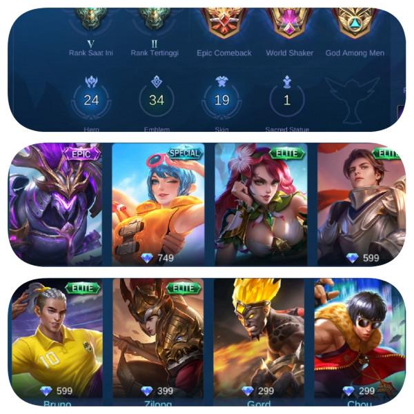 Akun Mobile Legends Murah #Starlight #GG #Smurf