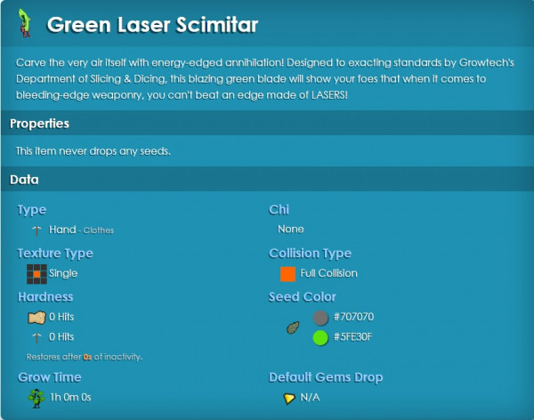 Green Laser Scimitar