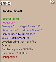 Wooden Wing (WW) +9