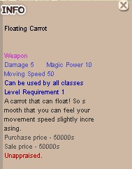 Floating Carrot +0 Unnap