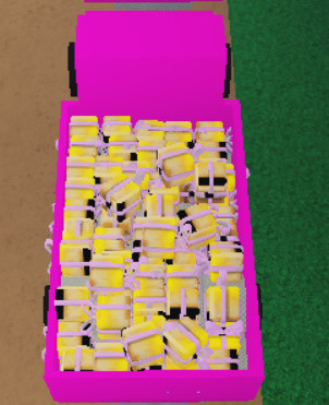 1 Pink Truck Gift Kuning isi 40++ l Lumber Tycoon2