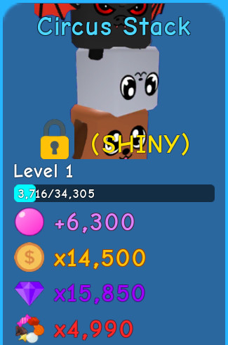 Shiny Circus Stack | Bubble Gum Simulator
