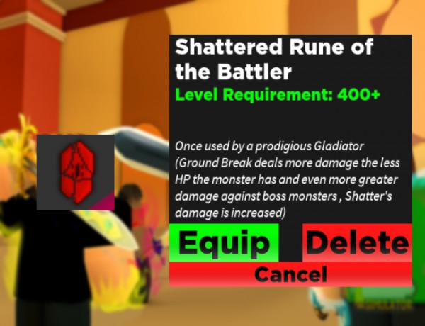 Shattered Rune of the Battler - Rpg Simulator