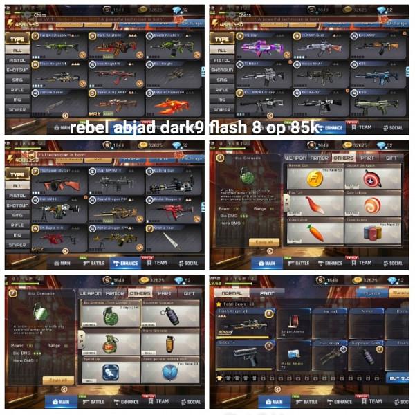 Akun game crisis action dark9 flash8