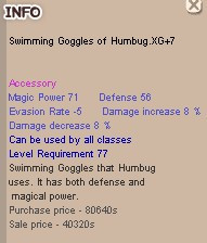 Swimming Goggles of Humbug XG+7, SEG XG+7