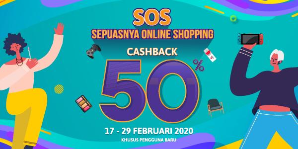 Promo OVO SOS Februari 2020: Cashback 50% Semua Game!