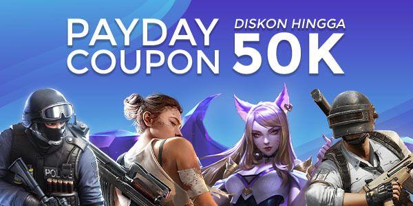 Februari Payday Coupon: Diskon Rp50K Growtopia dan Game Lainnya!