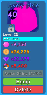 1 Pet Lovely Pixie (Bubble Gum Simulator)